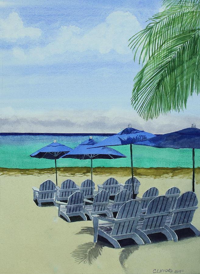 Beach Painting - Cozumel Beach by Cory Clifford