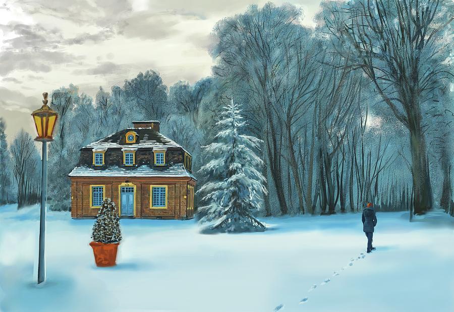 Cozy Winter Place by David Luebbert