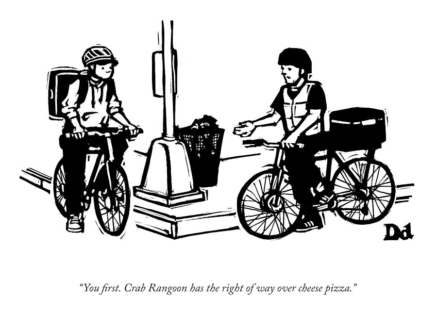 Crab Rangoon Drawing by Drew Dernavich