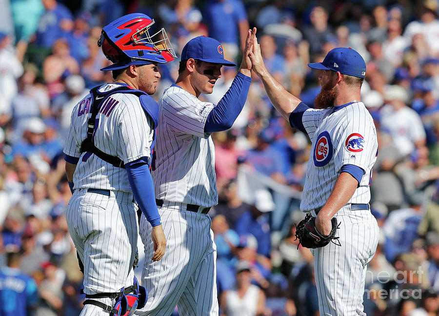 Craig Kimbrel And Anthony Rizzo Photograph by Nuccio Dinuzzo
