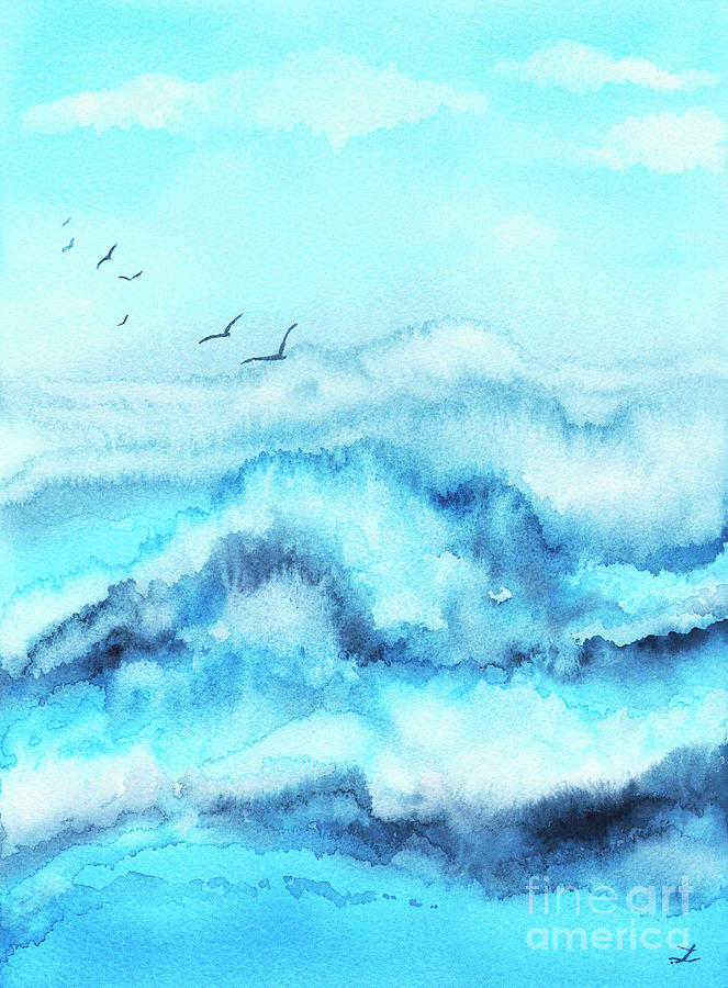 Crashing Waves Painting