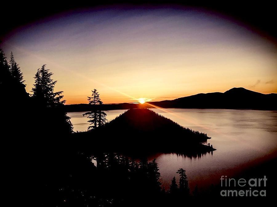 Crater Lake Dawn Photograph