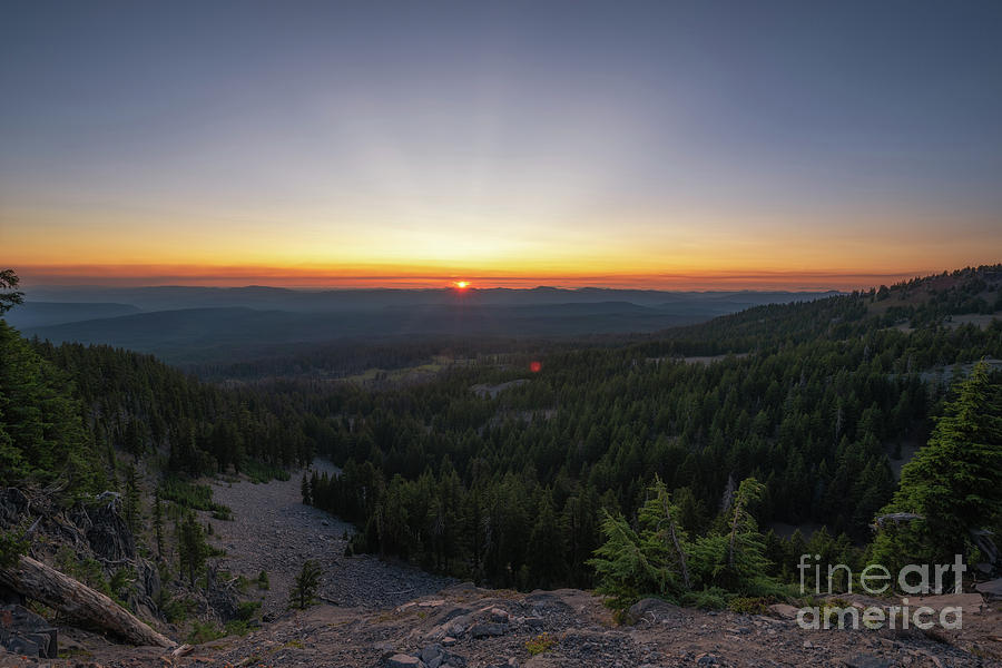 Crater Lake Rim Drive Sunset by Michael Ver Sprill