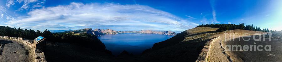 Crater Lake Panoramic Photograph