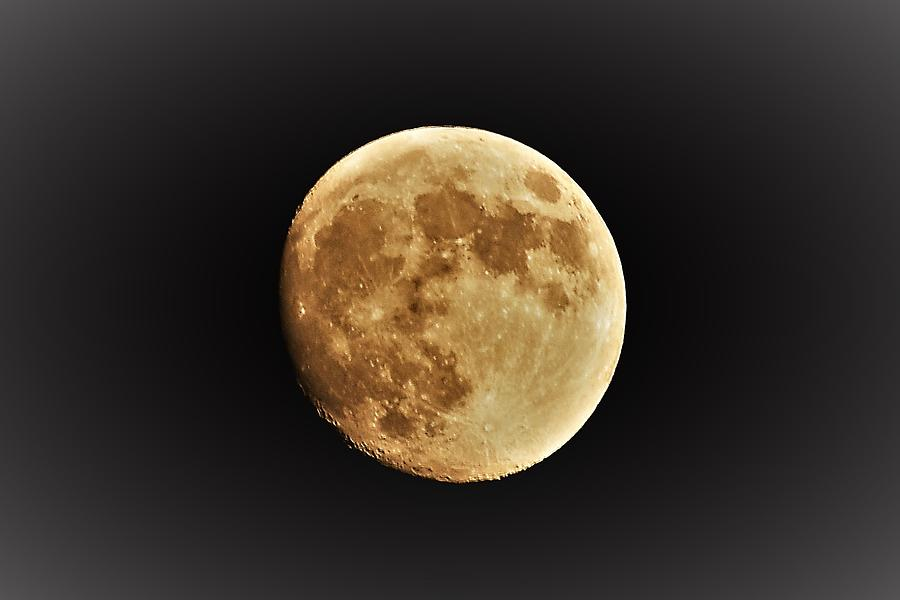 Cratered Moon Photograph