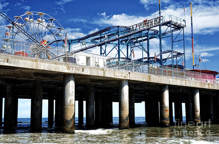 Crazy Mouse Photograph - Crazy Mouse on the Steel Pier in Atlantic City by John Rizzuto