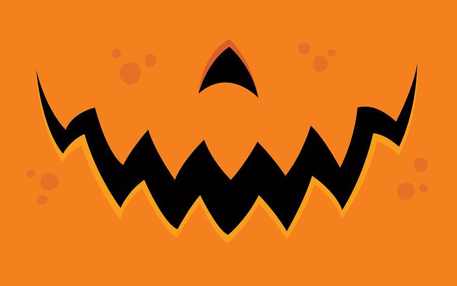 Pumpkin Digital Art - Crazy Pumpkin Jack-O-Lantern Mouth by John Schwegel