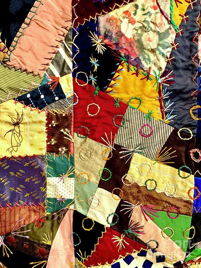 Quilt Photograph - Crazy Quilt 4 by Modern Art