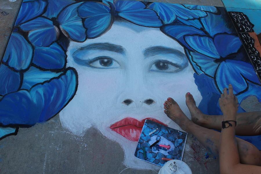 Wausau Photograph - Creating Chalk Art by Callen Harty