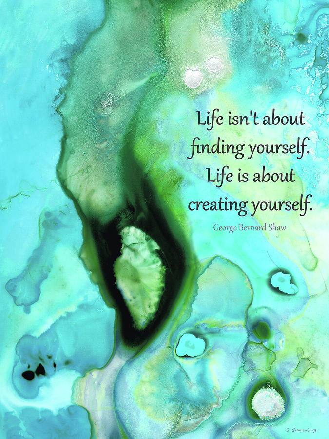 Hope Painting - Creating Yourself - Inspirational Art - Sharon Cummings by Sharon Cummings