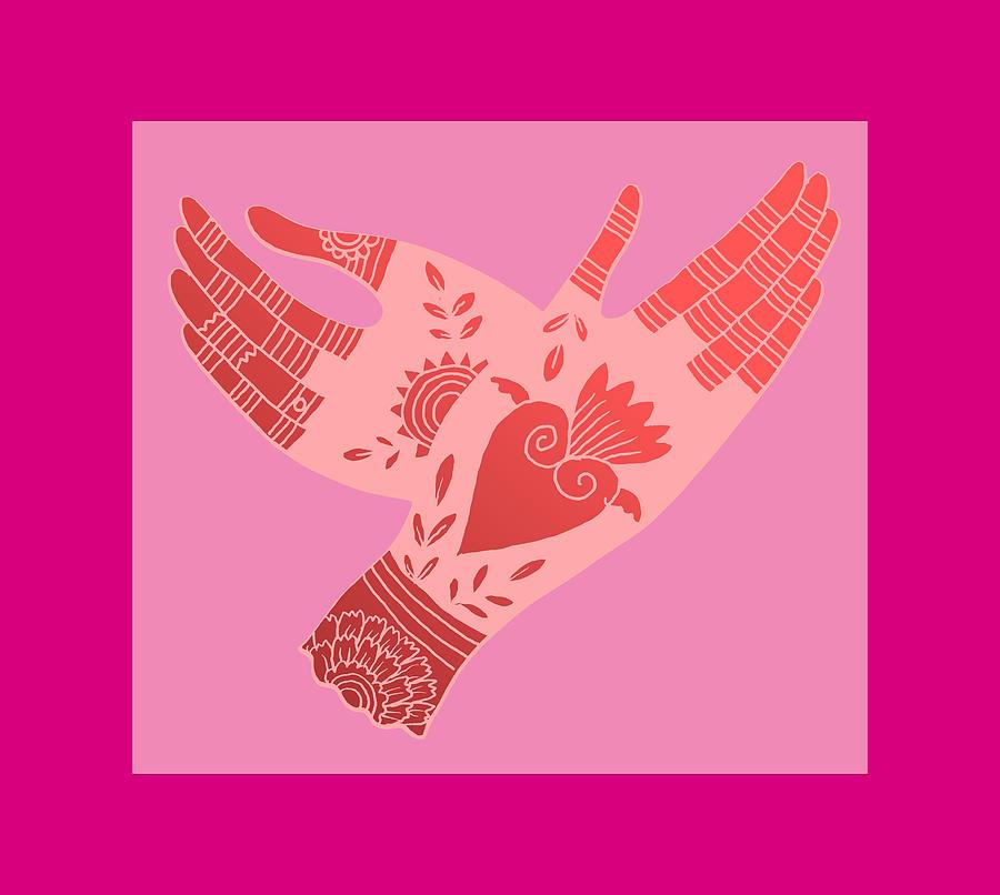 Hand Digital Art - Creative Flame by Elaine Jackson