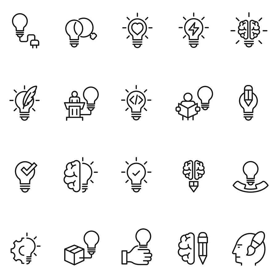 Creative icons Drawing by FingerMedium