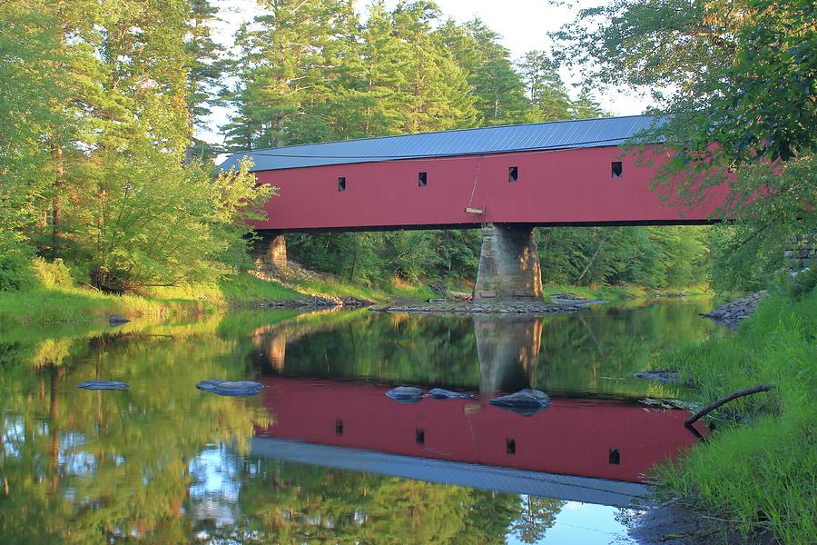 Cresson Covered Bridge Evening Reflection Photograph