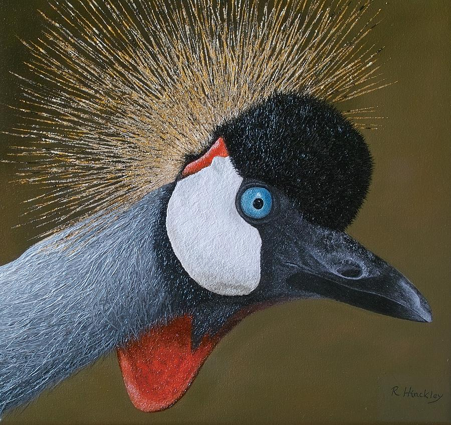 Crane Painting - Crane by Russell Hinckley