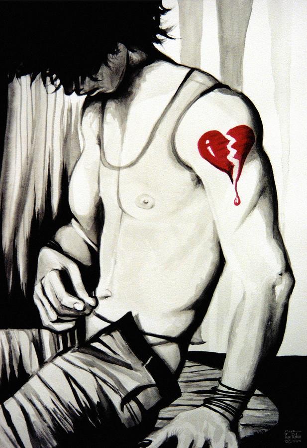 Crimson Painting - Crimson Crush by Nick San Pedro
