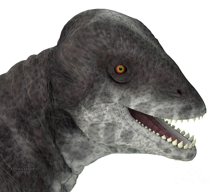 Criocephalosaurus Dinosaur Head Digital Art