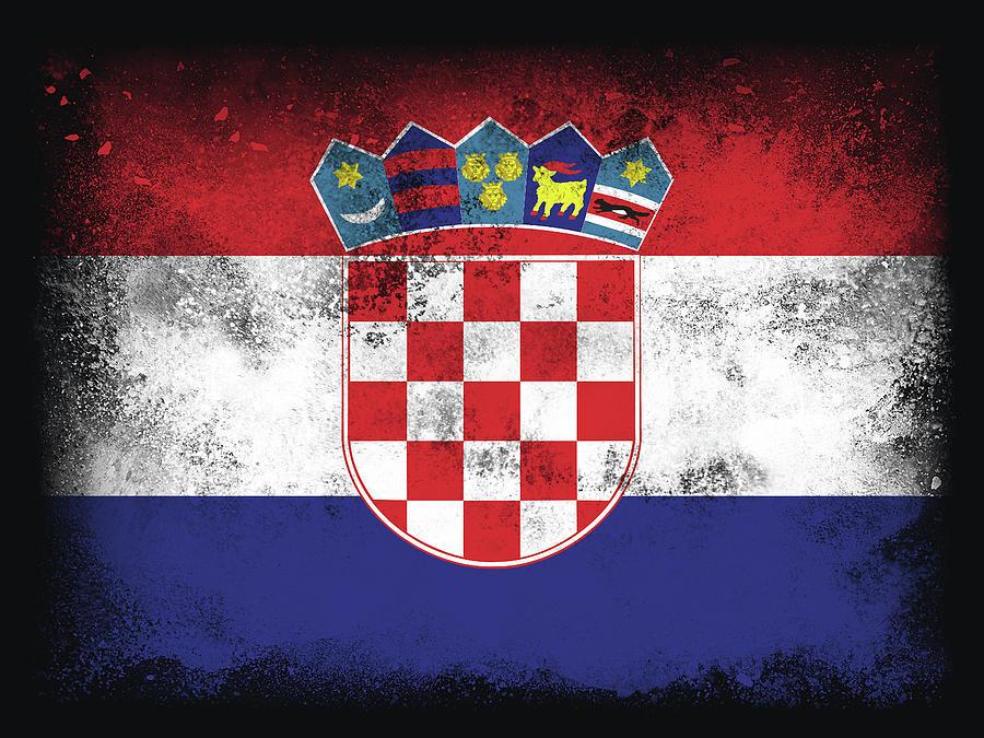 Croatia Flag Digital Art