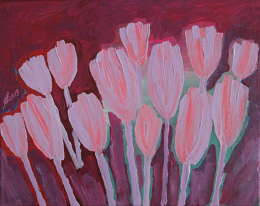 Crocuses original painting by Sol Luckman