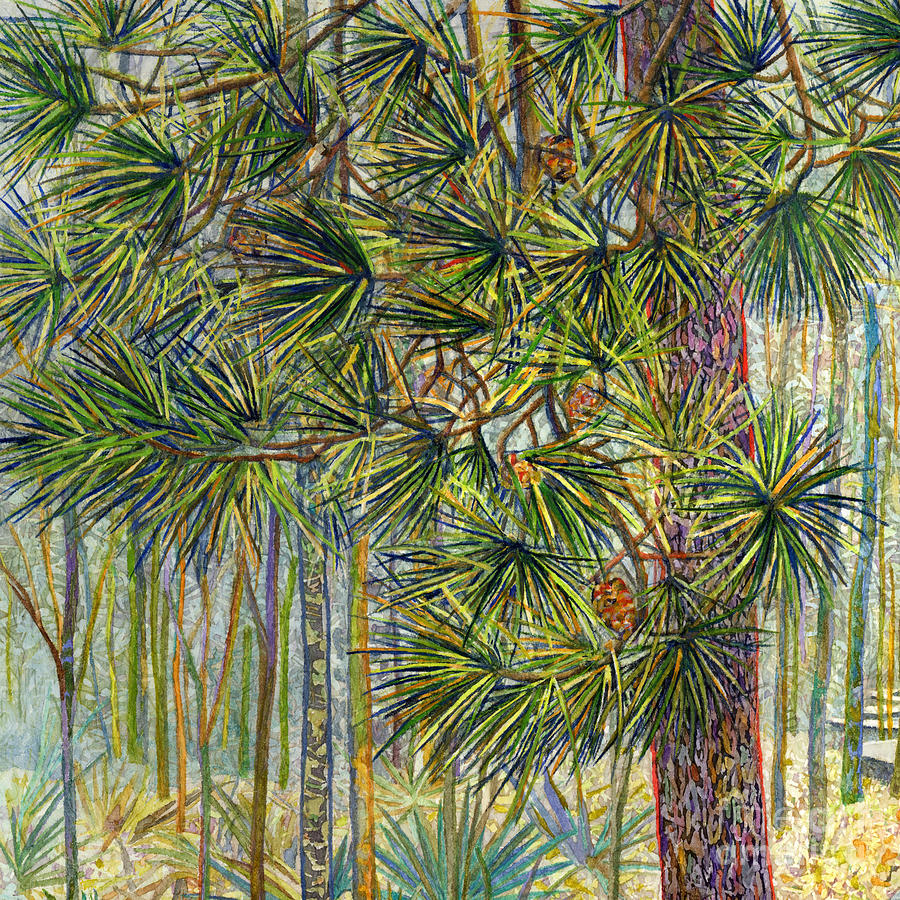 Trail Painting - Crossing Chinquapin Trail-Pine Needles by Hailey E Herrera