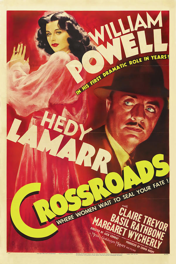 crossroads, With William Powell And Hedy Lamarr, 1942 Mixed Media