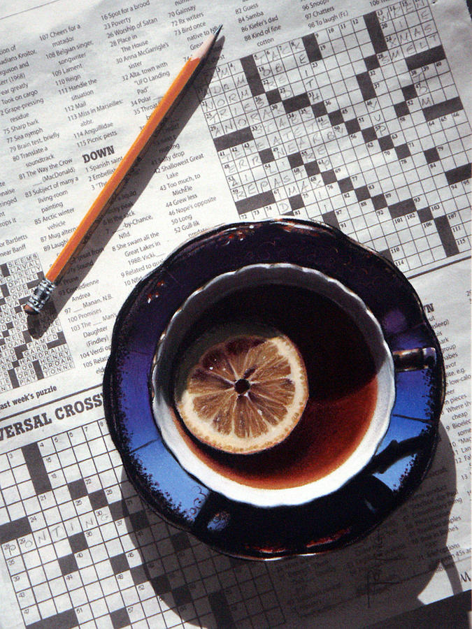 Still Life Painting - Crossword by Dianna Ponting