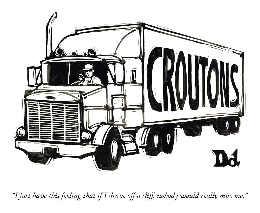 Croutons Drawing by Drew Dernavich