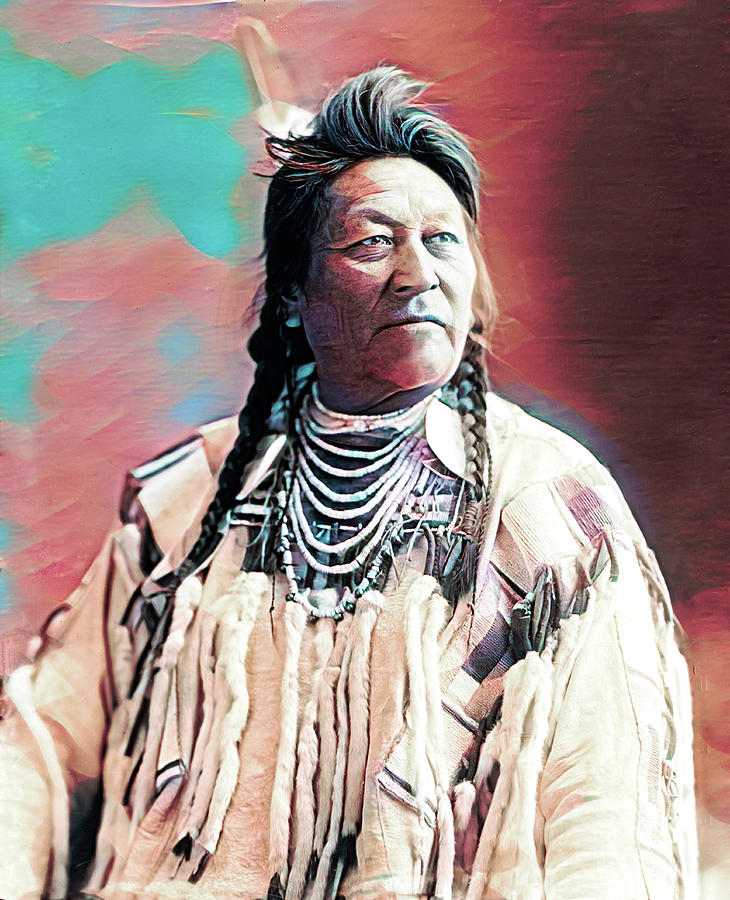 Crow Indian Painted by Carlos Diaz