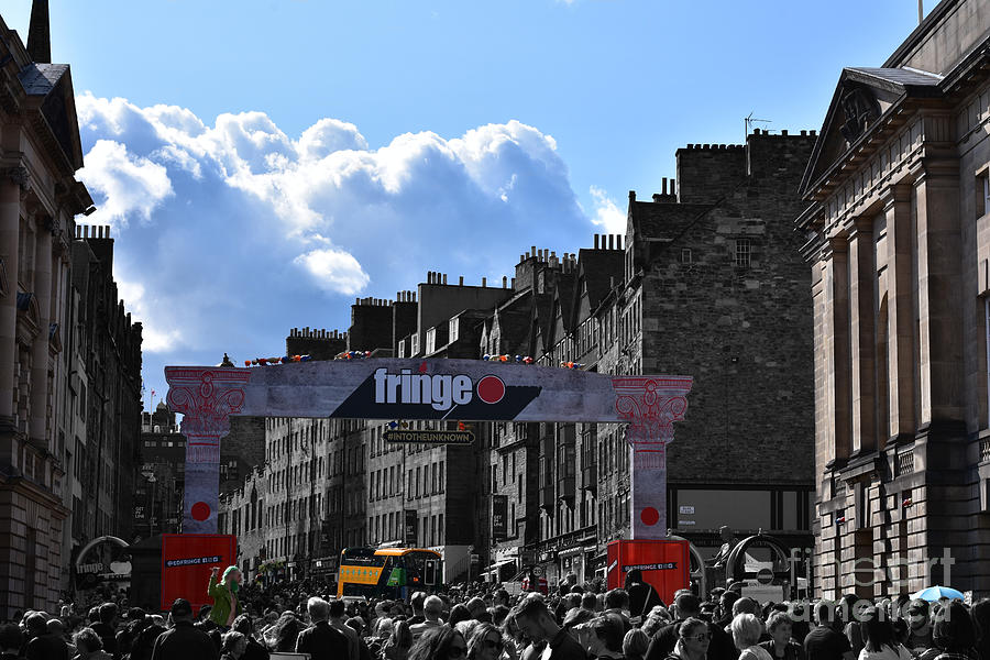 Crowded Streets - Edinburgh Fringe Festival by Yvonne Johnstone