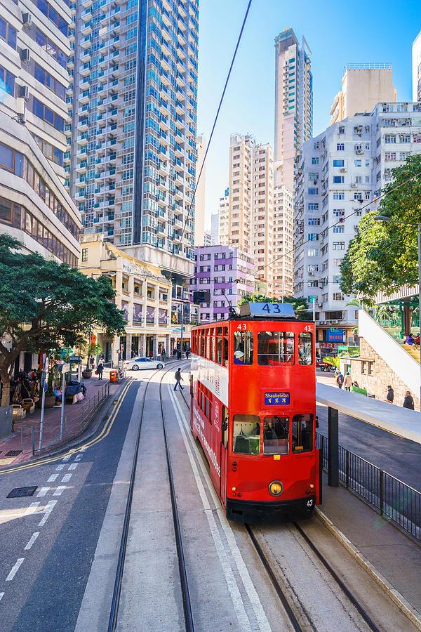 Crowded streets of Wanchai in Hong Kong Photograph by Chunyip Wong