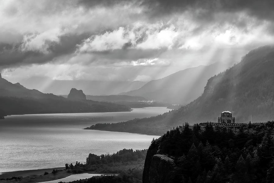Crown Point Overlook Portland Oregon by Harriet Feagin