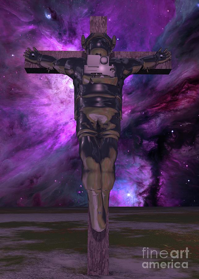 Crucified Astronaut Digital Art