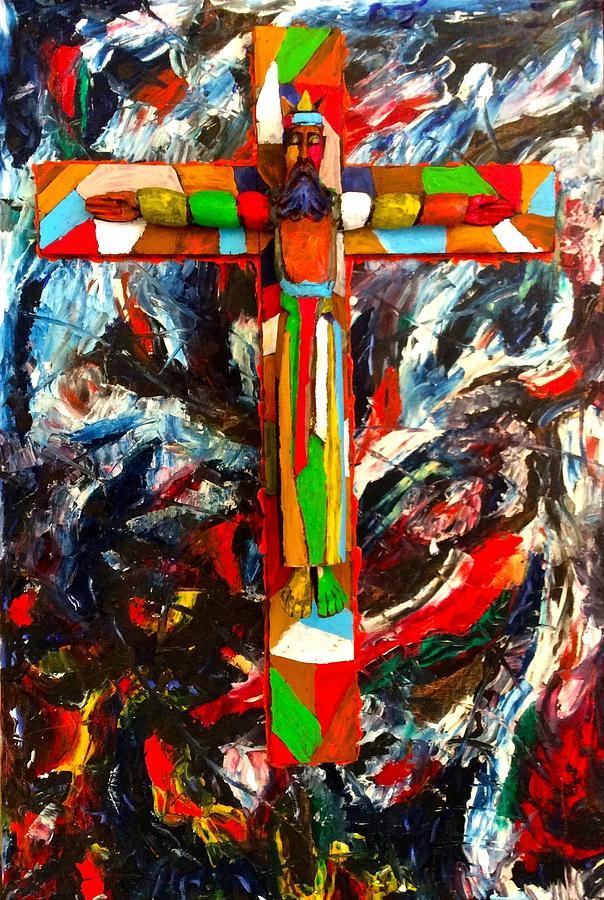 Crucifixion Mixed Media - Crucifixion by Biagio Civale