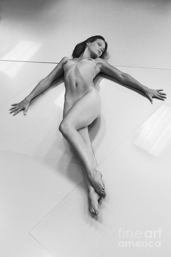 Young Woman Photograph - Crucifixion Nude by Simon Pocklington