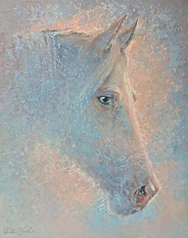 Equine Painting - Crystal Blue by Mia DeLode