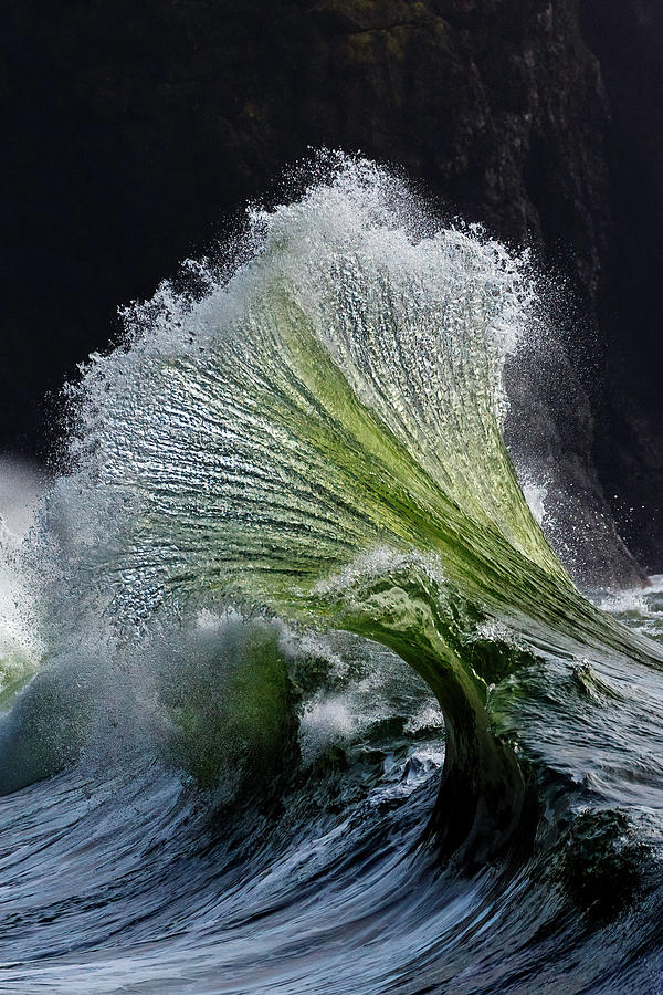 Crystal Glass Wave by Wes and Dotty Weber