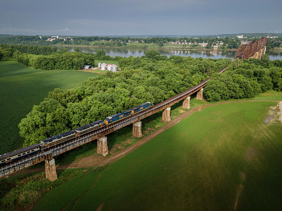 Csx P001 Heading South On The Henderson Subdivision From Evansville In Photograph