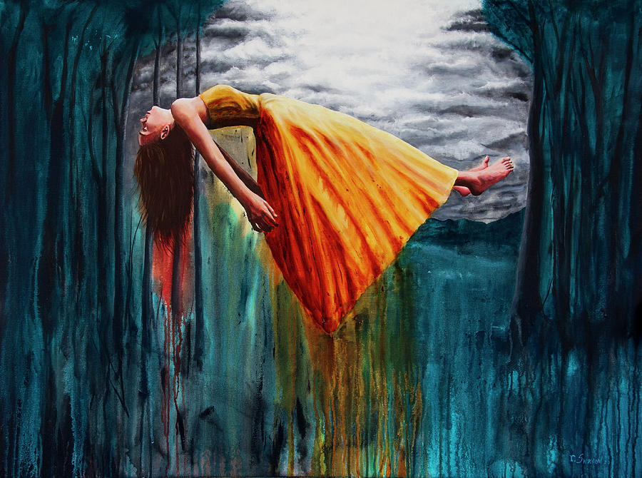 Woman Painting - Cuarantena by Ryan Swallow