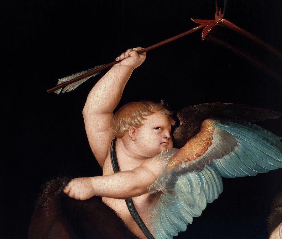 Hans Baldung Grien Painting - Cupid with the Flaming Arrow, 1530 by Hans Baldung