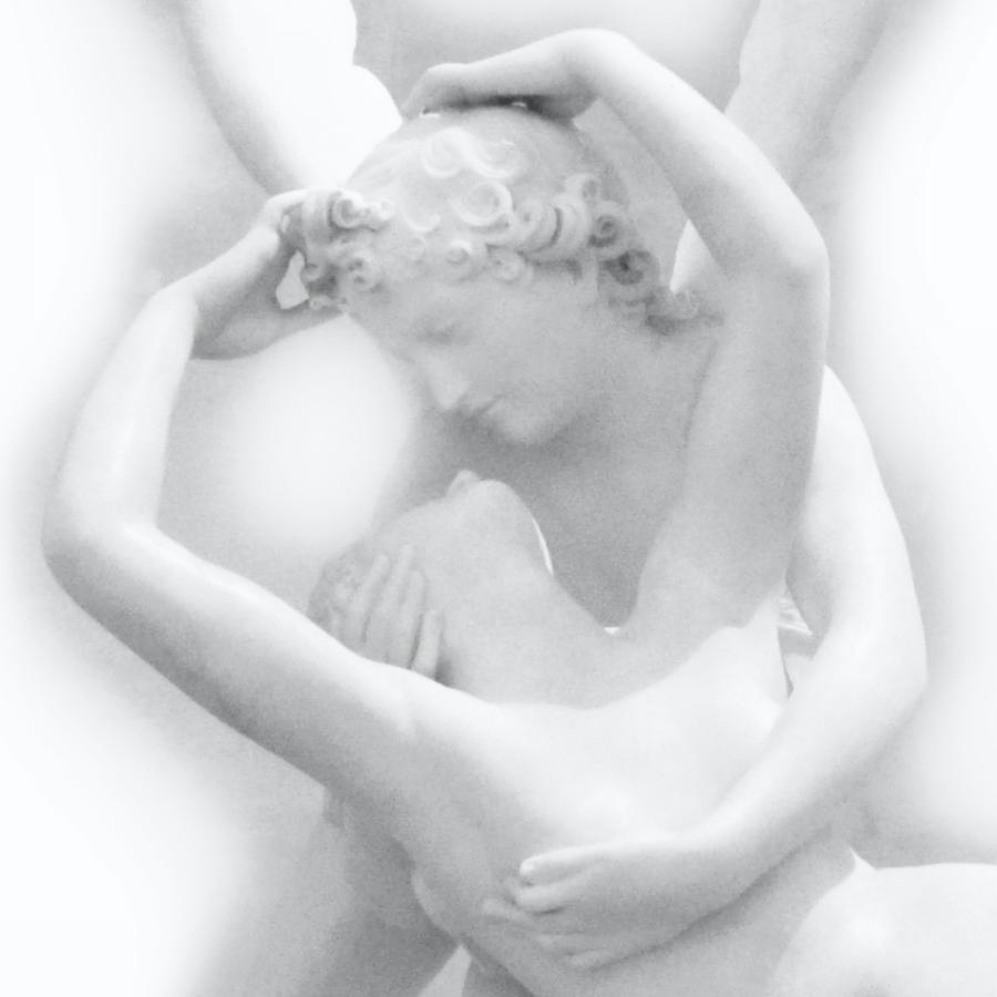 Cupid's Kiss - Eros and Psyche - Musee Du Louvre - Angel Sculpture  by Marianna Mills