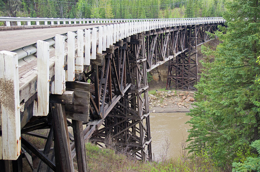 Wwii Photograph - Curved Bridge British Columbia Canada by Robert Braley
