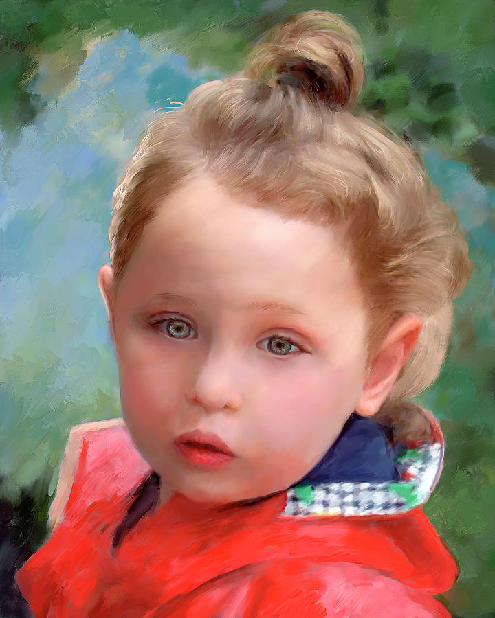 Custom Painted Child Portrait by Portraits By NC