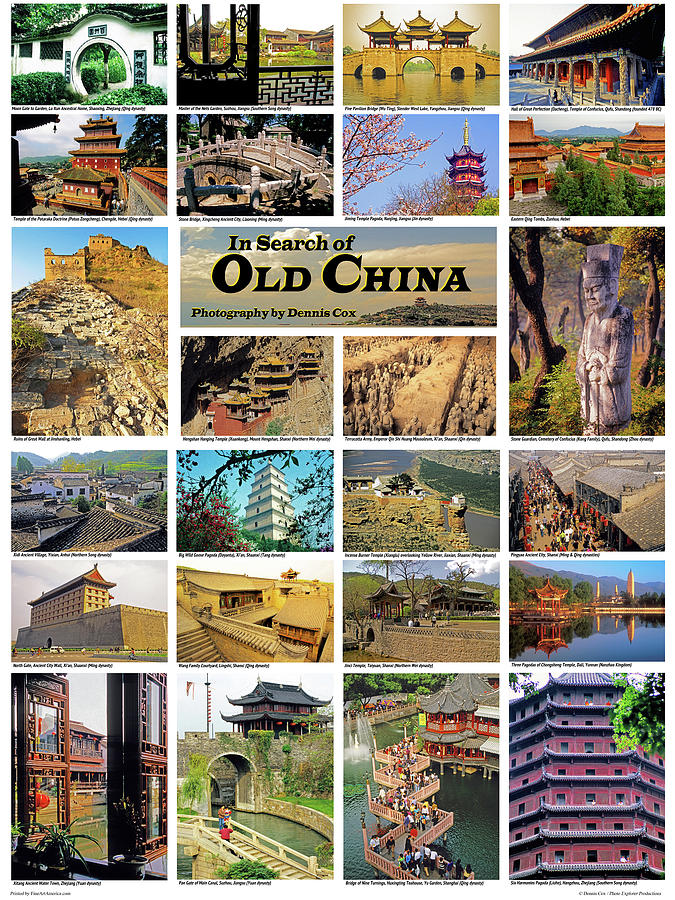 Old China Travel Poster Photograph