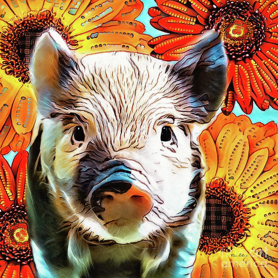 Cute Little Piglet Digital Art