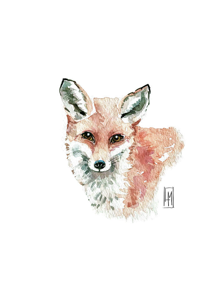 Cute Red Fox Painting