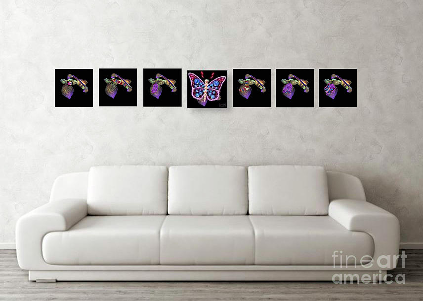 Cycle Of Blossom 7 Panels Order Separate Photograph