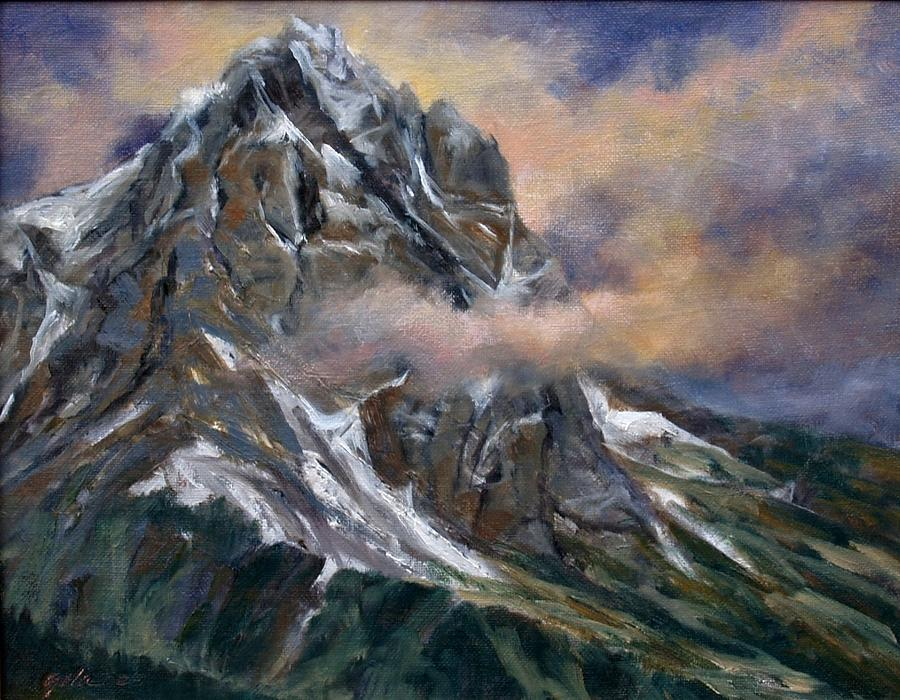 Landscape Painting - Daddy Teton by Jim Gola