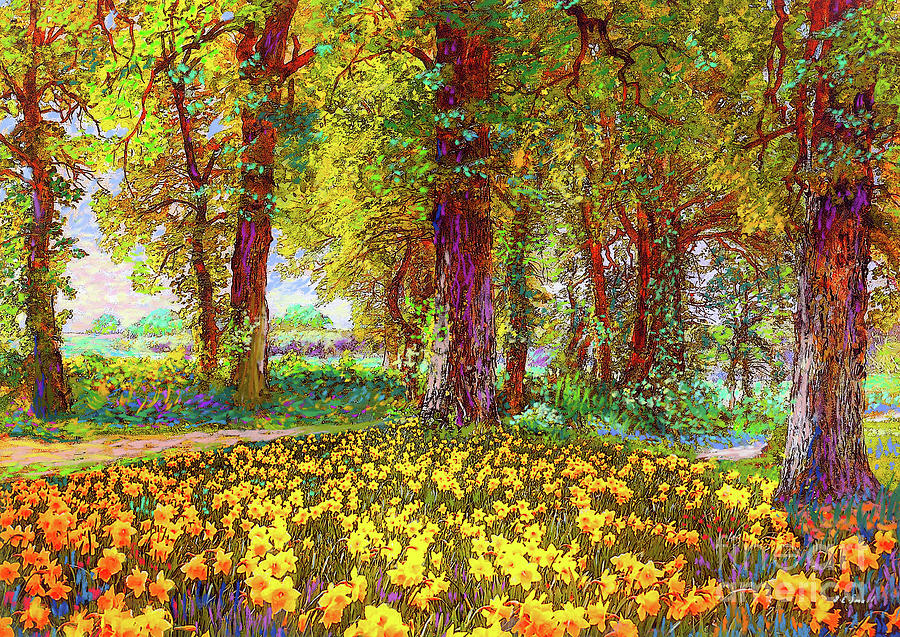 Landscape Painting - Daffodil Sunshine by Jane Small