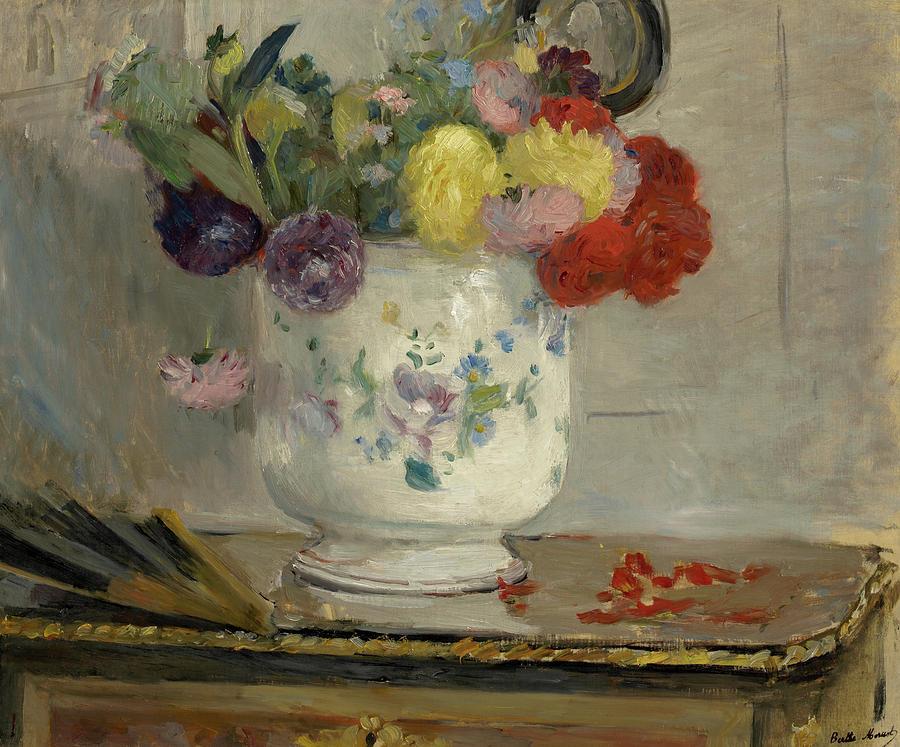 Berthe Morisot Painting - Dahlias, 1876 by Berthe Morisot