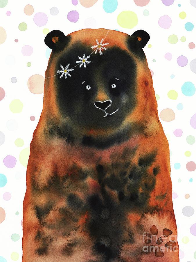 Daisy Bear On Dots Painting