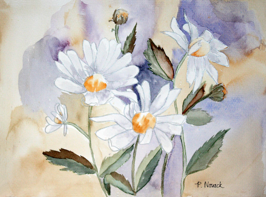 Flowers Painting - Daisy Days by Patricia Novack